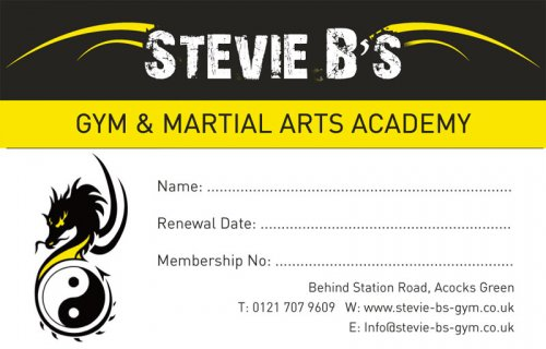 Stevie B's Gym - Membership cards | Brace Media - Full-service ...